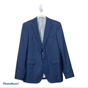 Zara man navy blue 2 button blazer sport coat